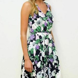 NEW Talbots Floral Fit and Flare Dress